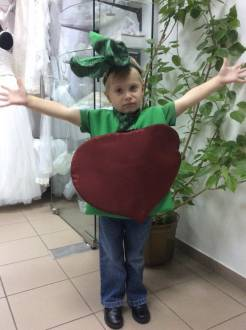 "Children's costume ""Beetroot"""